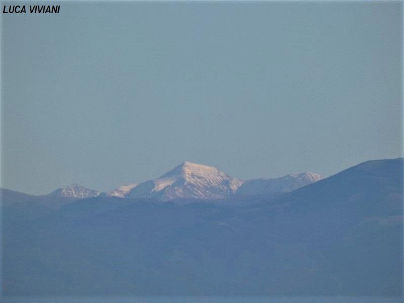Monte Gorzano visto da Montefiascone
