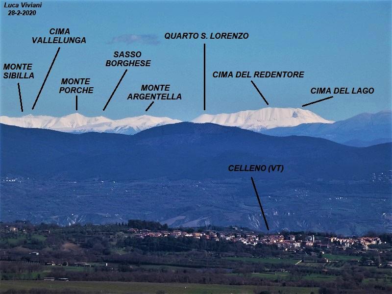 Monte Sibilla visto da Montefiascone