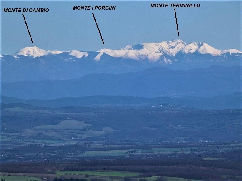 Monte di Cambio e Monte Terminillo visti da Montefiascone