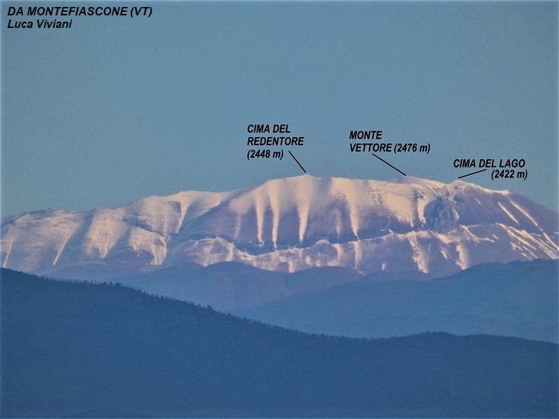 Monte Vettore visto da Montefiascone