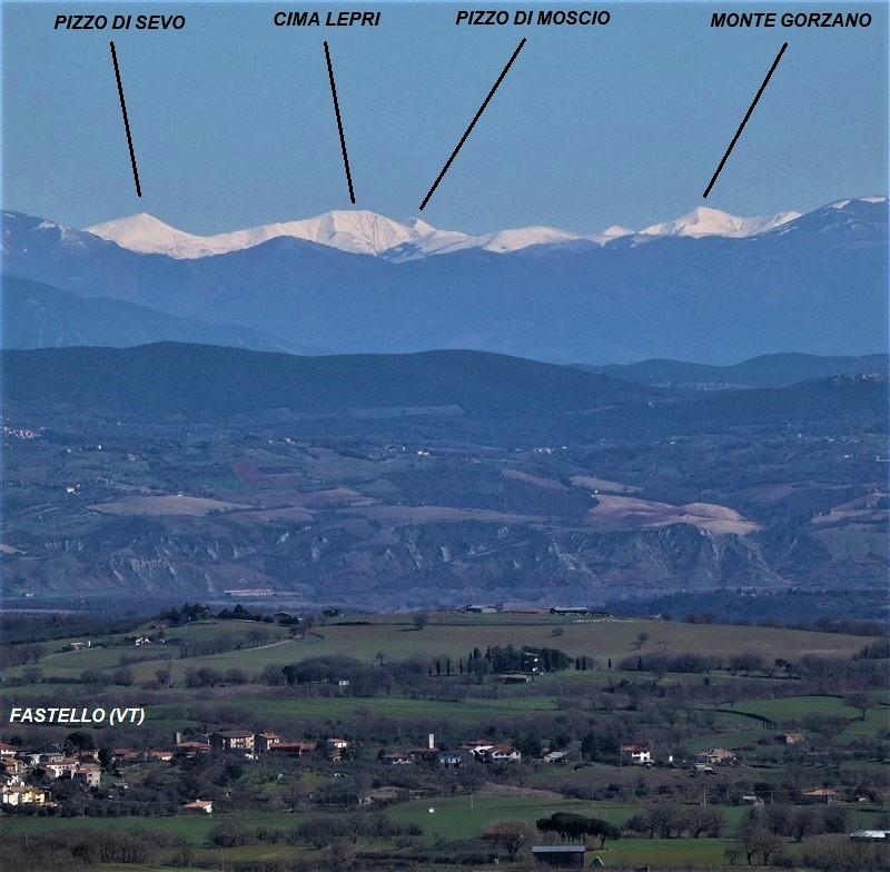 Monti della Laga visti da Montefiascone