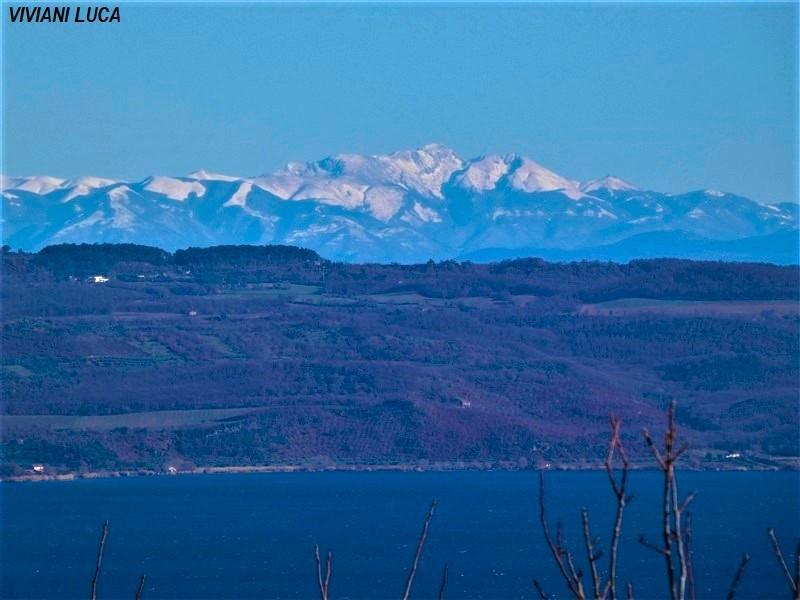 Monte Terminillo e il lago di Bolsena
