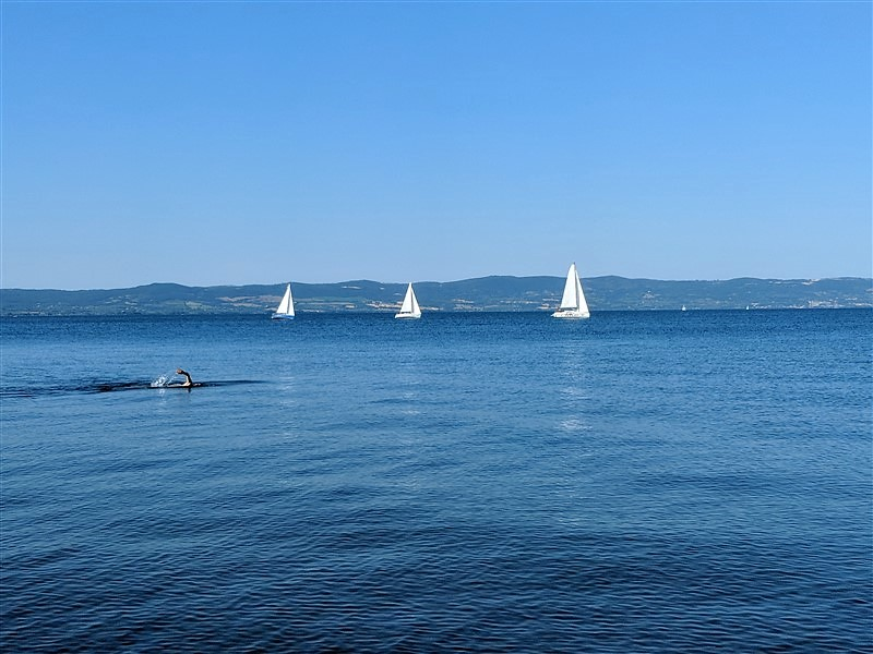 Vela sul lago di Bolsena