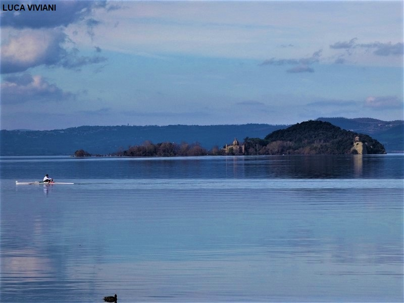 Canoa sul lago di Bolsena