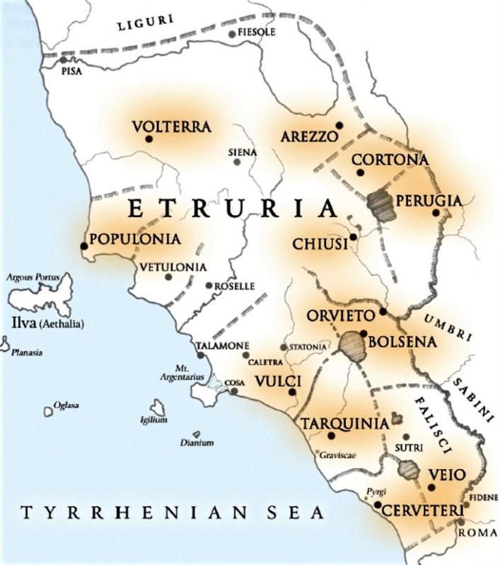 Cartina Geografica Di Viterbo E Provincia.La Tuscia E L Alta Tuscia Viterbese Antica Terra Degli Etruschi Meteo Marta It