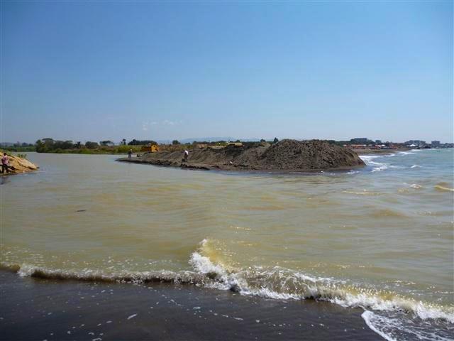 Il fiume Marta a Tarquinia