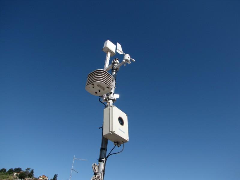 La stazione meteo di Marta, lago di Bolsena
