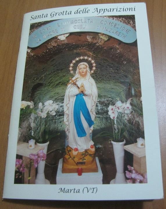 Libro sulla Grotta delle apparizioni di Marta scritto da Mario Prugnoli
