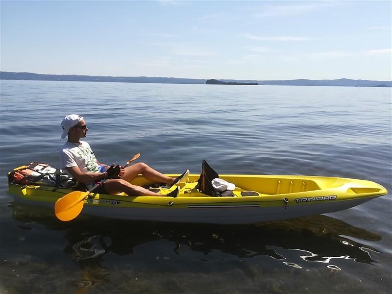Kayak sul lago di Bolsena