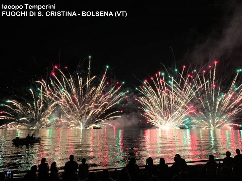 Fuochi d'artificio a Bolsena