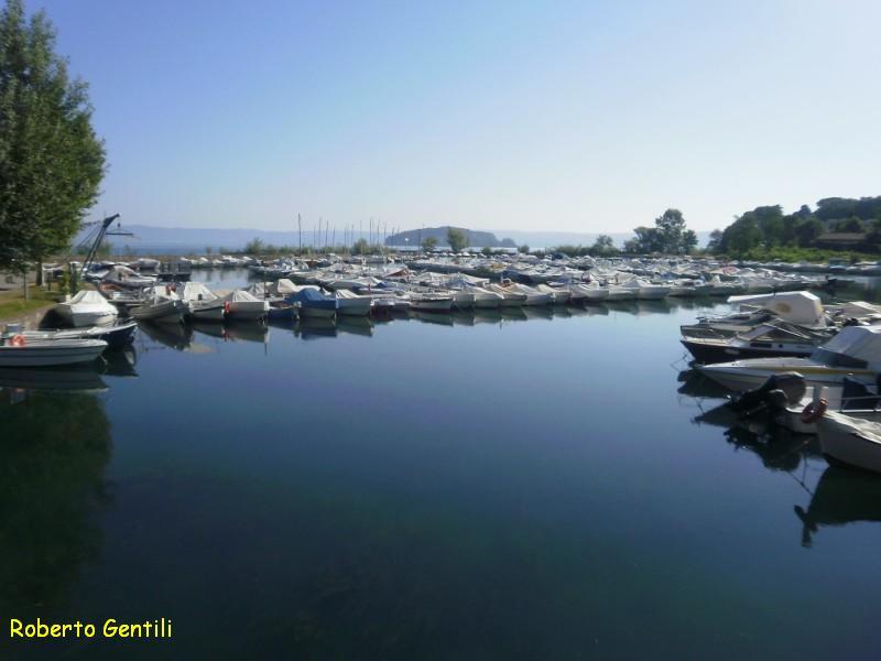 Porto di Marta nel lago di Bolsena