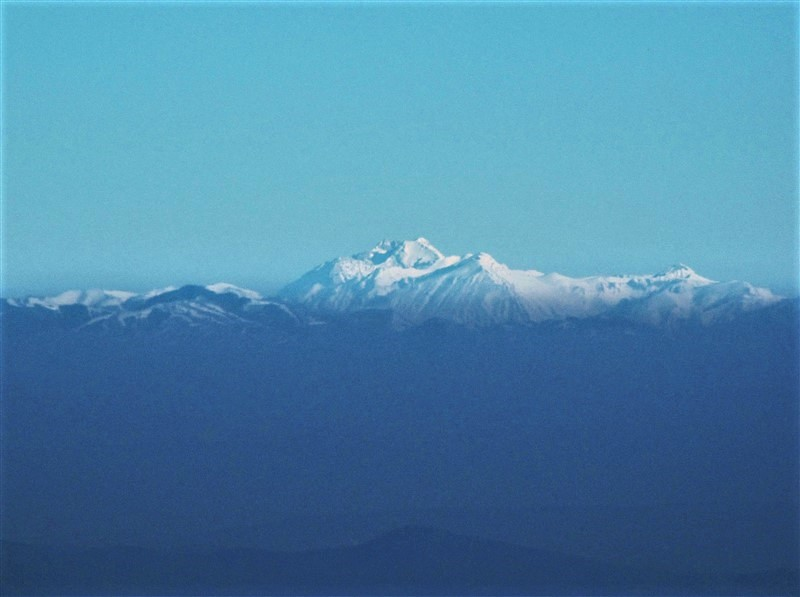 Il Gran Sasso visto dal monte Amiata