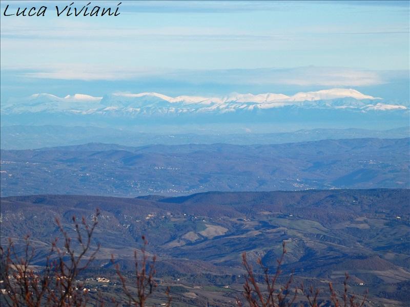 I Sibillini visti dal monte Amiata