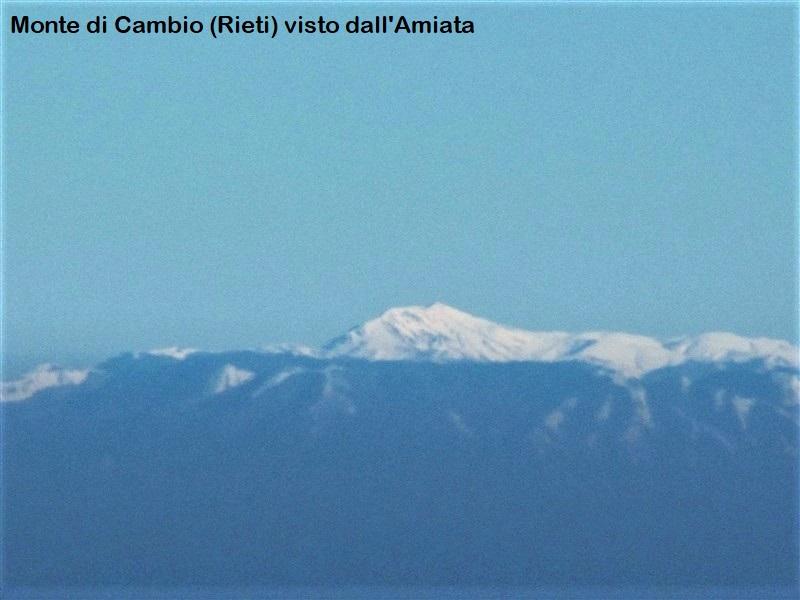 Monte di Cambio visto dal monte Amiata