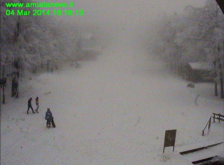 Neve sul monte Amiata