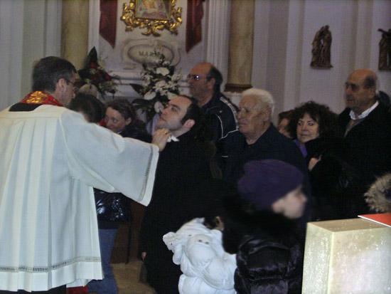 Festa di San Biagio a Marta, unzione della gola